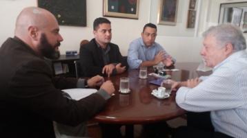 Moisés Lazarine em reunião na Secretaria de Cultura do Estado de São Paulo