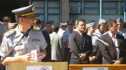 Major Nivaldo, responsável pelo policiamento no Estado