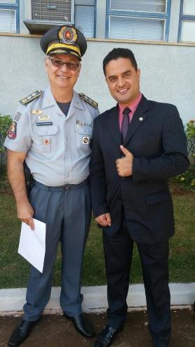 Major Moreira, responsável pelo policiamento na cidade de São Carlos