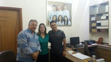 Da esquerda para direta, Pr Ismael Dra Rosária e Vereador Moisés Lazarine