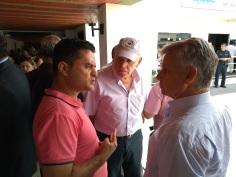 Lazarine, Prefeito Airton Garcia e Coca Ferraz( secretário de Transporte e trânsito)